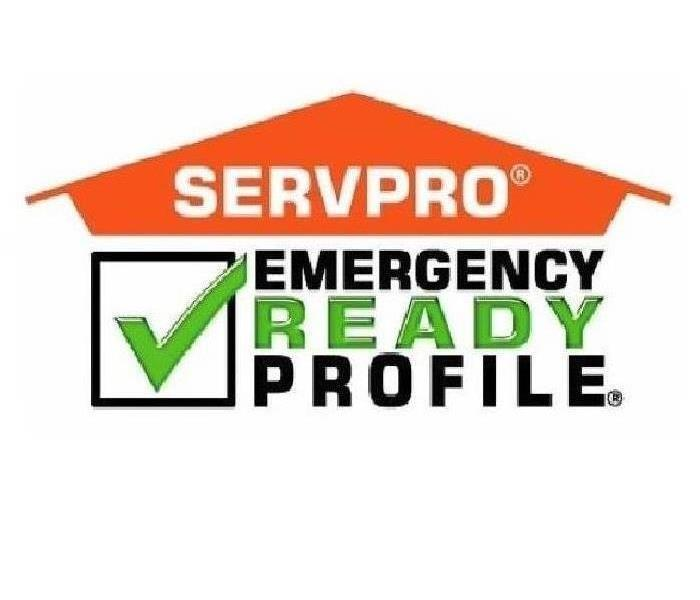 "SERVPRO logo with ""Emergency Profile Ready"" next to a green check mark"