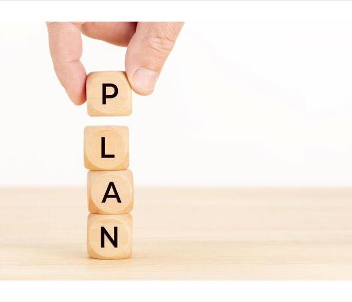 Plan spelled out in blocks